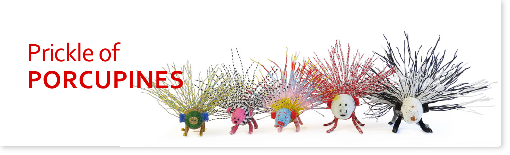 Prickle of beaded porcupines