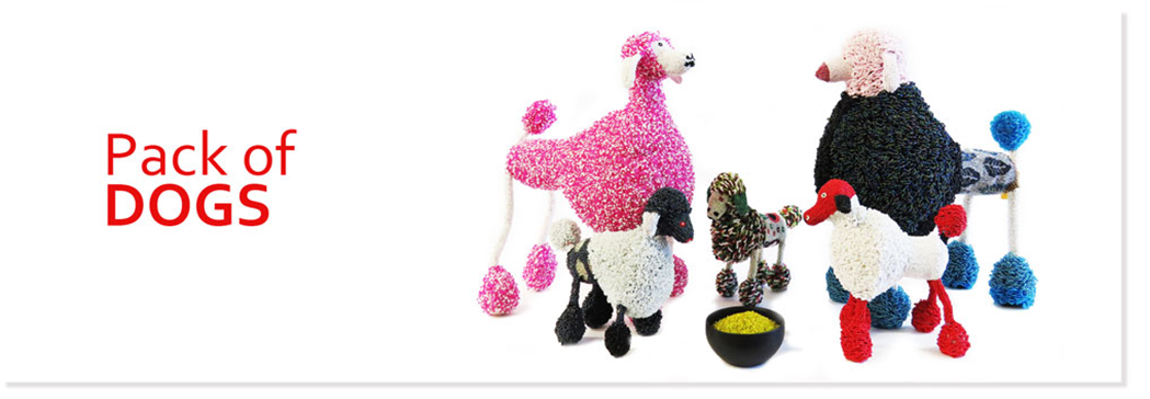 Pack of dogs all beaded