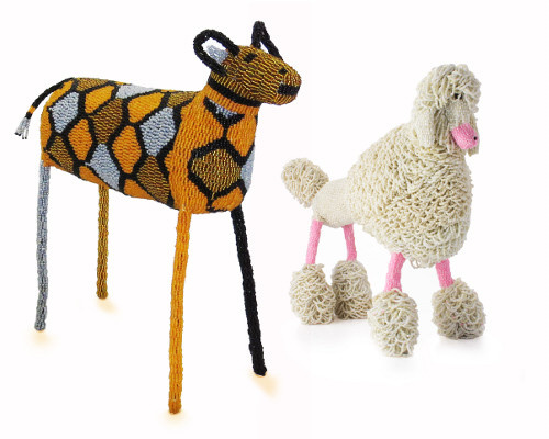 Beaded poodle and wild dog