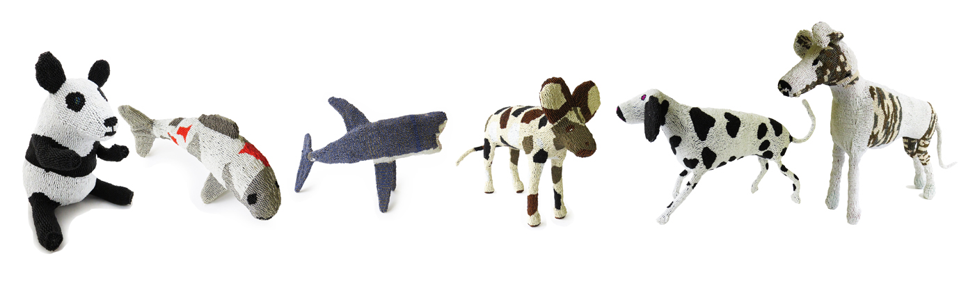 New beaded creations from pandas to fish and even wild dogs
